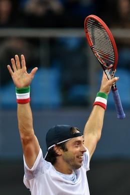 TENNIS-DAVIS-CUP-ITALY-SWITZERLAND
